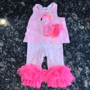 Mud Pie Flamingo Outfit